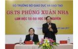 Minister of Education and Training Phung Xuan Nha visits Thai Nguyen University